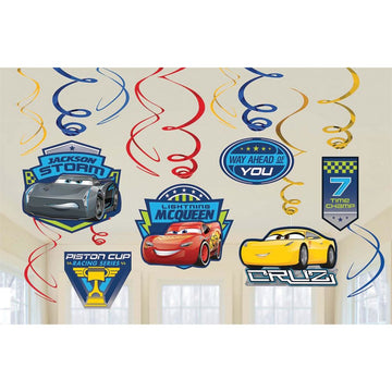 Disney Cars 3 Foil Decor - Birthday Party Decorations Birthday Party Plates