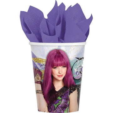 Disney Descendants II 9 Oz Paper Cups -Set of 8 - Birthday Party Decorations