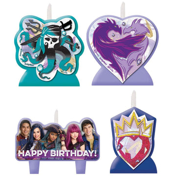 Disney Descendants II Candles - Set of 4 - Birthday Party Decorations Birthday