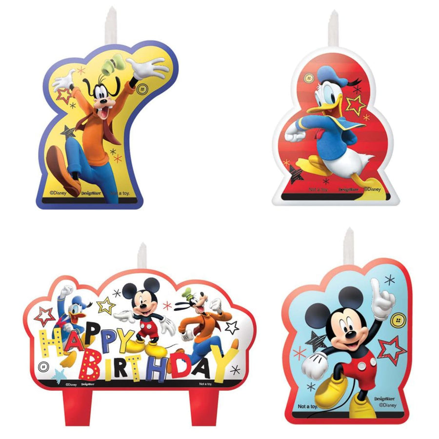 Disney Mickey Mouse Candles - Set of 4 - Birthday Party Decorations Birthday