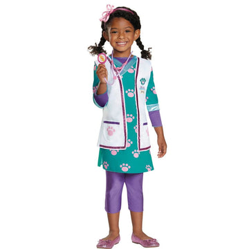 Doc Pet Vet Deluxe Toddler Costume 3T-4T - Doctor & Nurse Costume Halloween