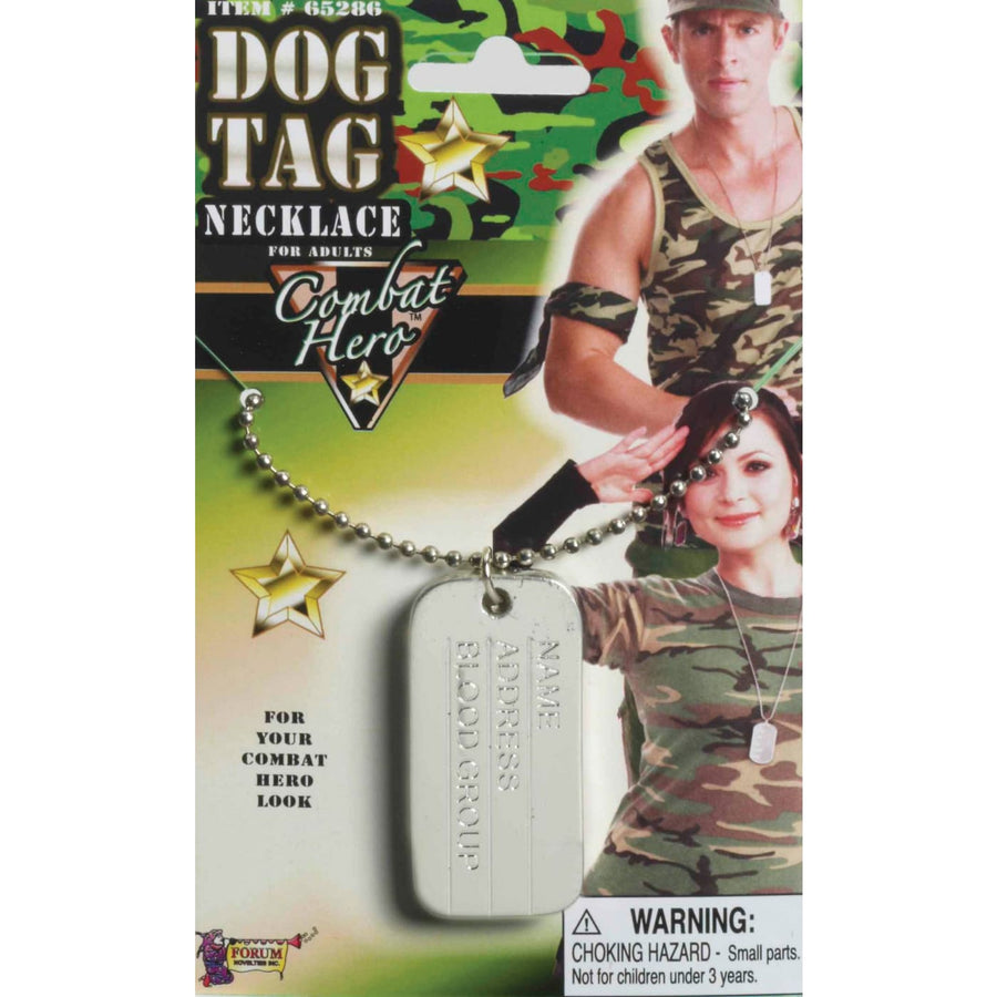 Dog Tag Necklace - Fashion Jewelry Halloween costumes Military & Uniform Costume