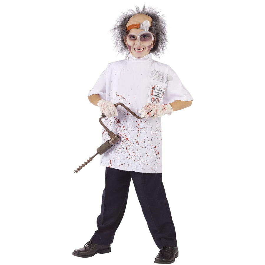 Dr Killer Driller Boys Costume 12-14 - Boys Costumes boys Halloween costume