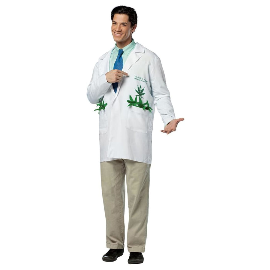 Dr Rhol A Doobie Lab Coat Adult Costume - adult halloween costumes halloween