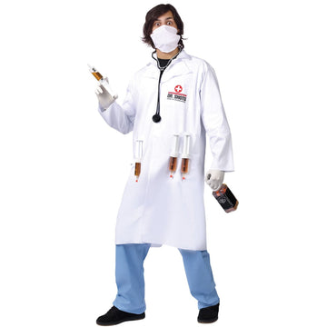 Dr Shots - adult halloween costumes Doctor & Nurse Costume Dr Shots Funny