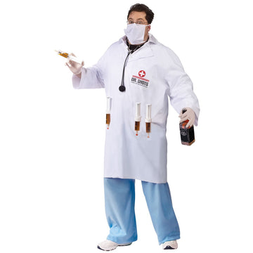 Dr Shots Plus - adult halloween costumes Doctor & Nurse Costume Dr Shots Plus