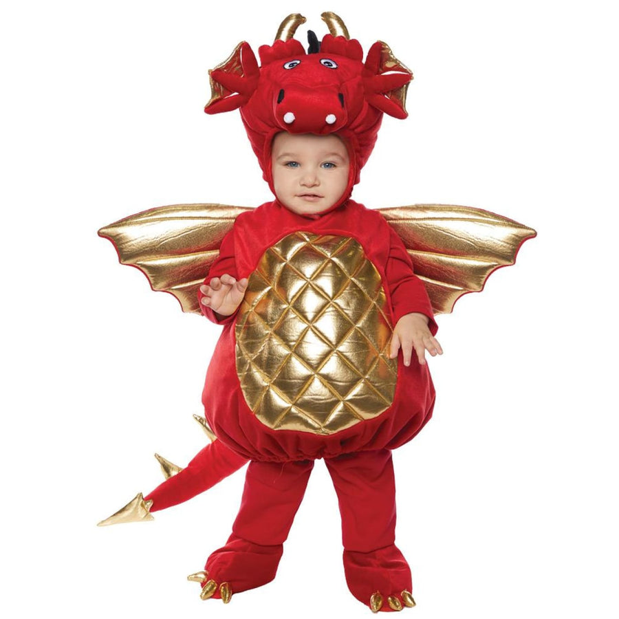 Dragon Toddler Costume Red 18-24 Months - Dragon Toddler Costume Red 18-24