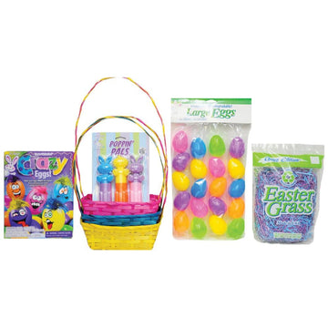 Easter Basket Blue Yellow Pink Kit - Halloween costumes New Costume
