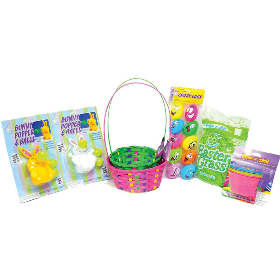 Easter Basket Pink Green Kit - Halloween costumes New Costume