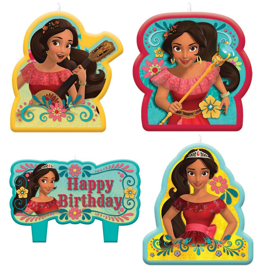 Elena Of Avalor Birthday Candles - Set of 4 - Birthday Party Decorations
