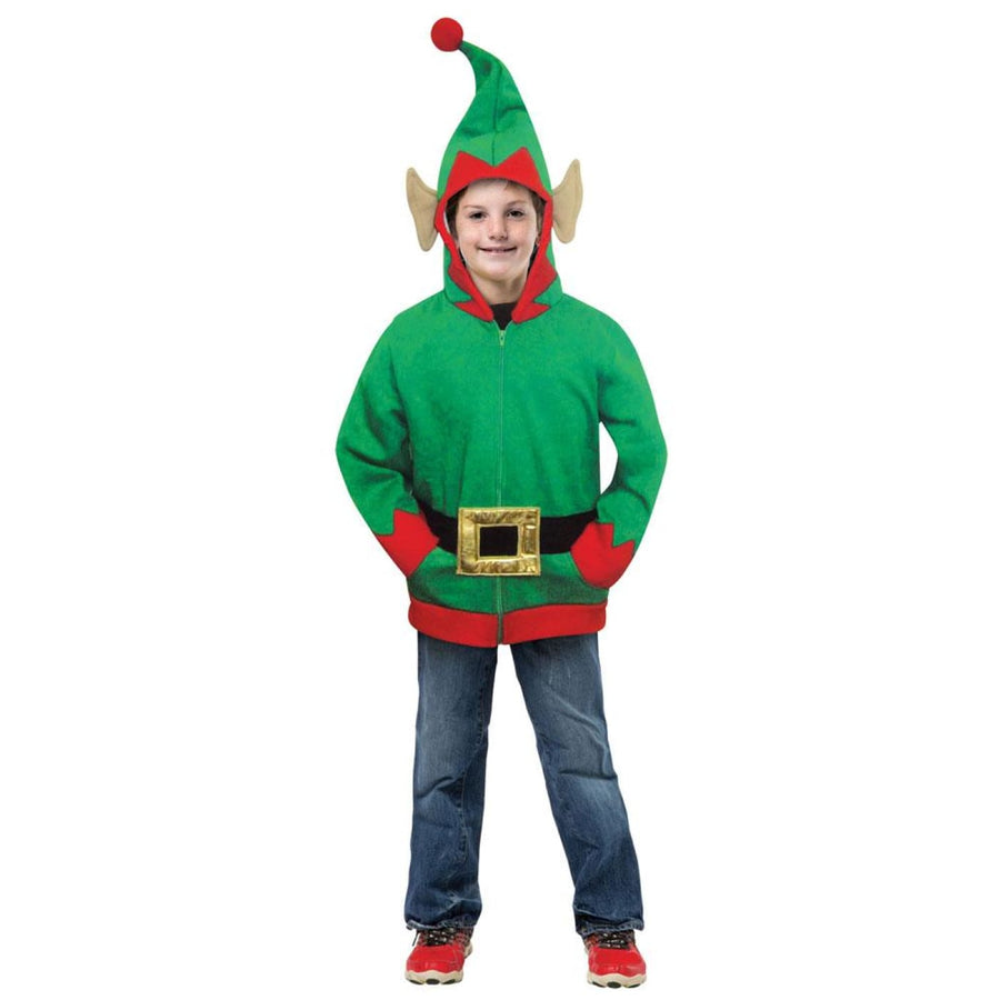 Elf Hoodie Boys Costume Medium 7-10 - Boys Costumes Halloween costumes