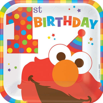 Elmo 9 Inch Plates -Set of 8 - Birthday Party Decorations Birthday Party Plates