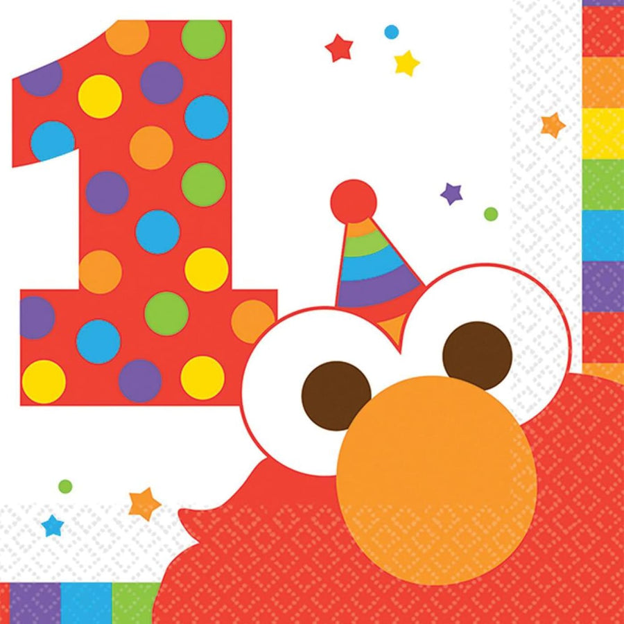 Elmo Beverage Napkins -Set of 16 - Birthday Party Decorations Birthday Party