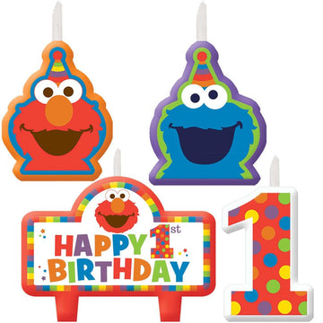 Elmo Birthday Candles -Set of 4 - Birthday Party Decorations Birthday Party