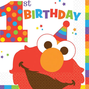 Elmo Lunch Napkins -Set of 16 - Birthday Party Decorations Birthday Party Plates