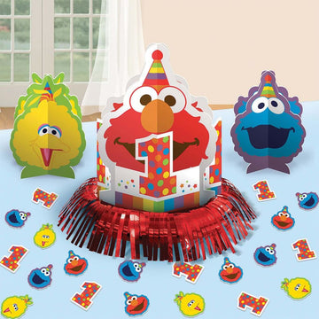 Elmo Party Table Decor Kit - Birthday Party Decorations Birthday Party Plates