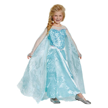 Elsa Prestige Girls Costume 7-8 - Girls Costumes New Costume