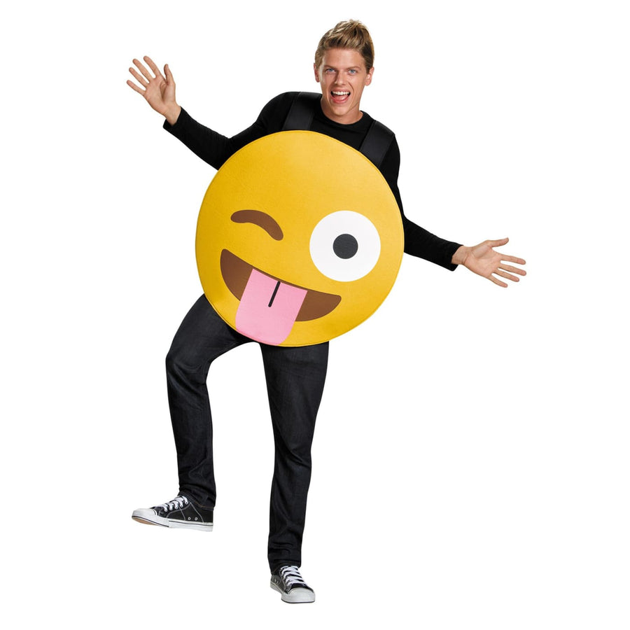 Emoticon Tongue Adult Costume - Funny Costume funny halloween costumes Halloween