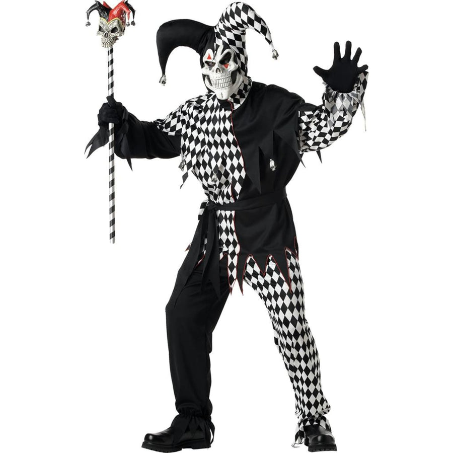 Evil Jester Adult Costume Large - Clown & Mime Costume clown costumes Halloween