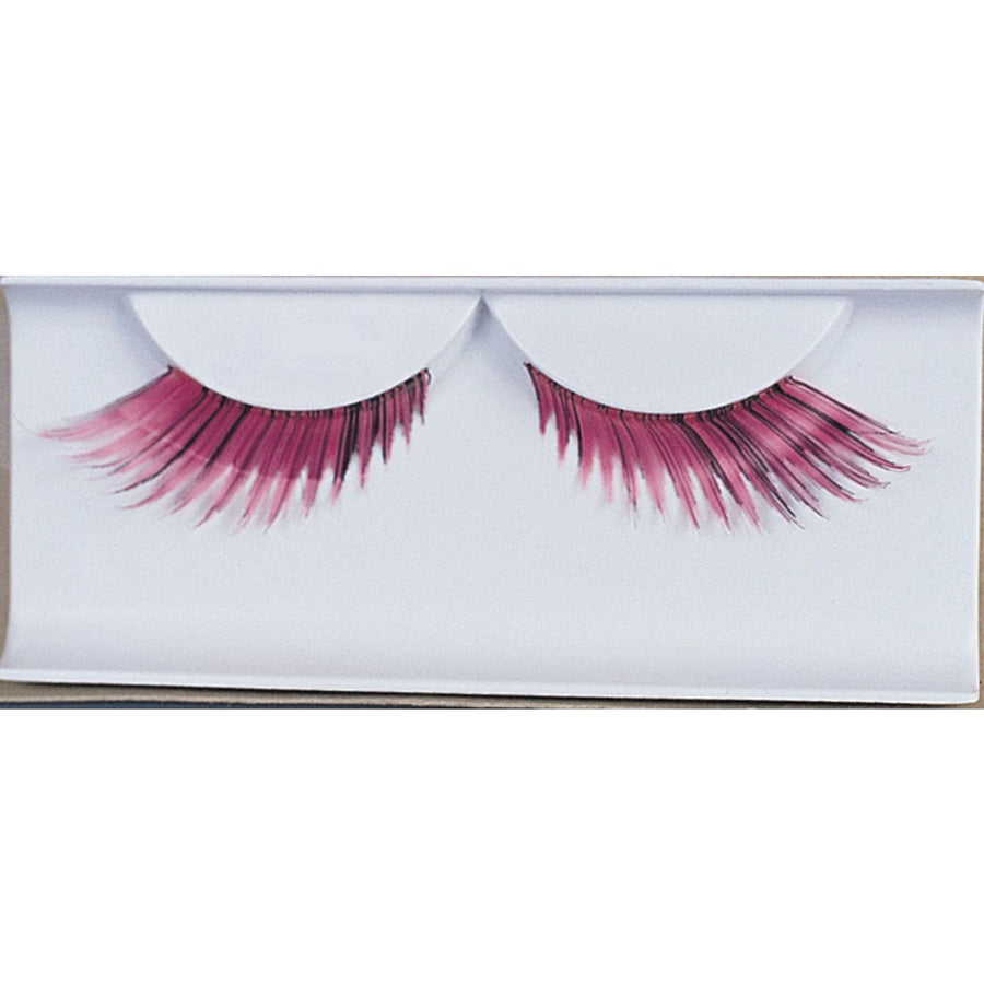 Eyelashes Feather Pink - Costume Makeup Halloween costumes Halloween makeup