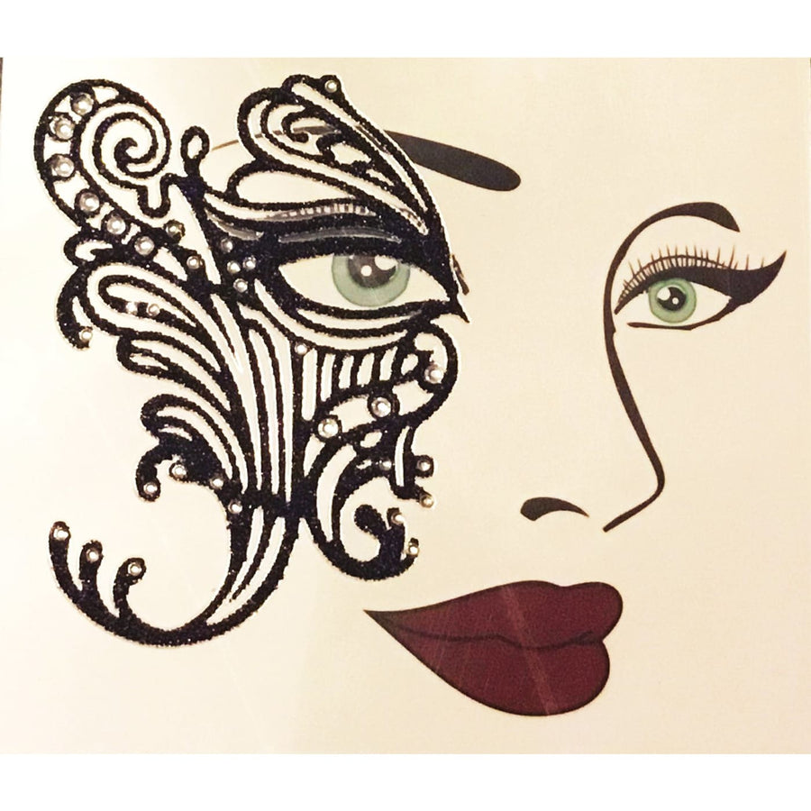 Face Decal Eye Lace - Halloween costumes