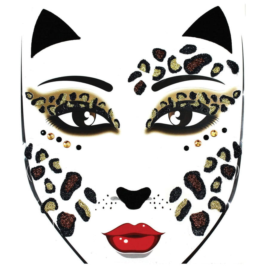 Face Decal Leopard