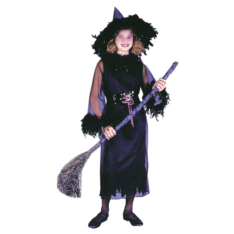 Feather Witch Blk Child Lg - Girls Costumes girls Halloween costume Halloween