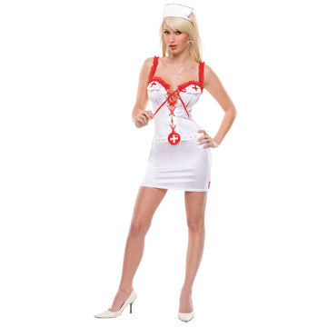 Fetish Florence Md-Lg - adult halloween costumes Doctor & Nurse Costume female