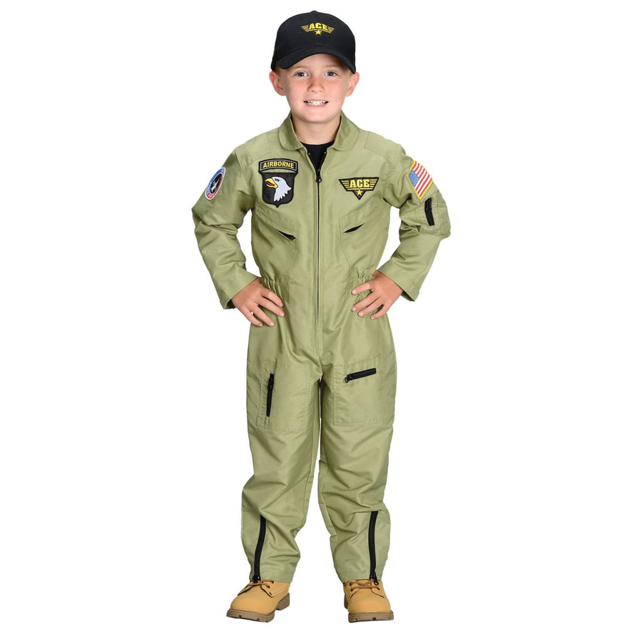 Fighter Pilot Boys Costume Large 8-10 - Boys Costumes boys Halloween costume