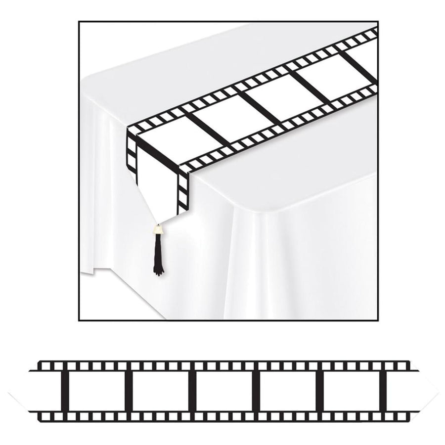 Filmstrip Party Table Runner 11Inx 6Ft - Halloween costumes New Costume