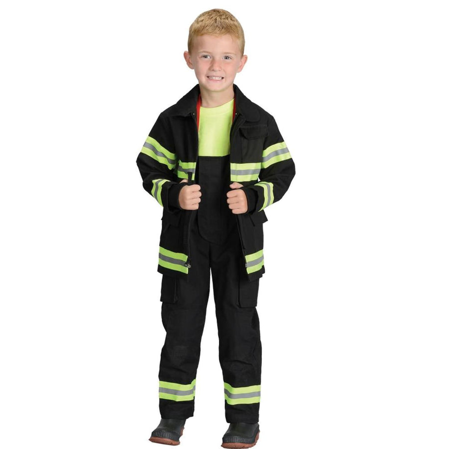 Fire Fighter Child Costume Black Sm 4-6 - Boys Costumes boys Halloween costume