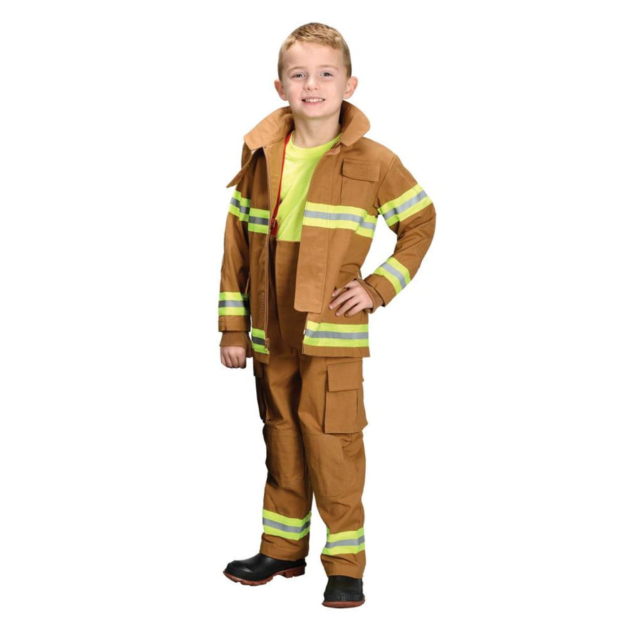 Fire Fighter Tan Boys Costume Small 4-6 - Boys Costumes boys Halloween costume