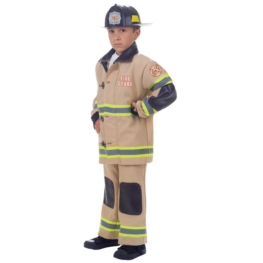 Firefighter Boys Costume Tan Lg 10-12 - Boys Costumes Firefighter Boys Costume