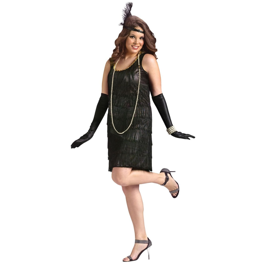 Flapper Adult Plus Size Costume - 20s - 40s Costume adult halloween costumes