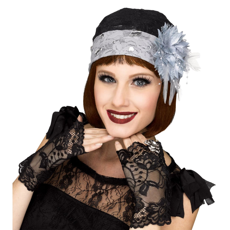 Flapper Cloche and Mitts - 20s - 40s Costume Gangster & Flapper Costume