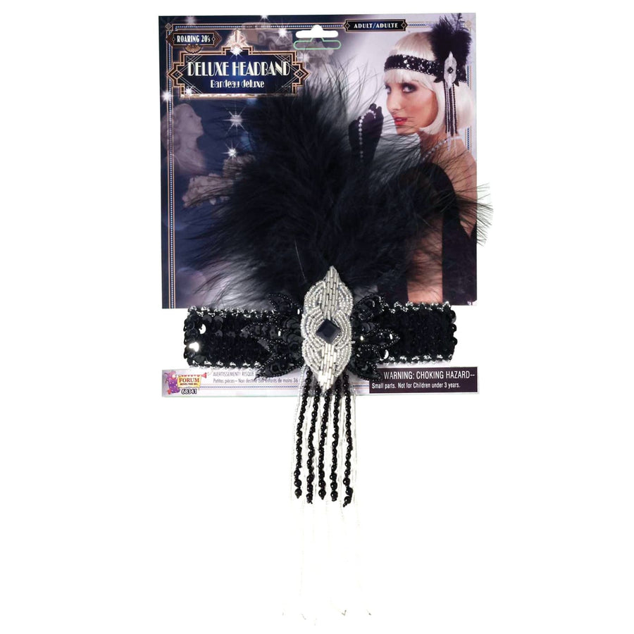 Flapper Deluxe Adult Costume Headband - 20s - 40s Costume Gangster & Flapper