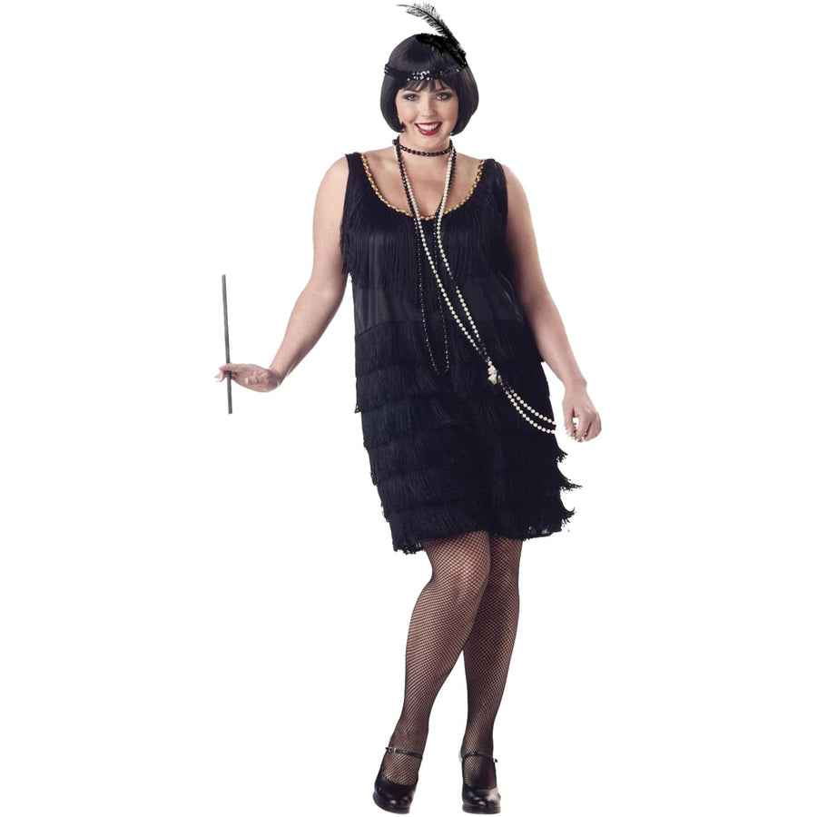 Flapper Fash Adult Costume Xxlarge - adult halloween costumes female Halloween