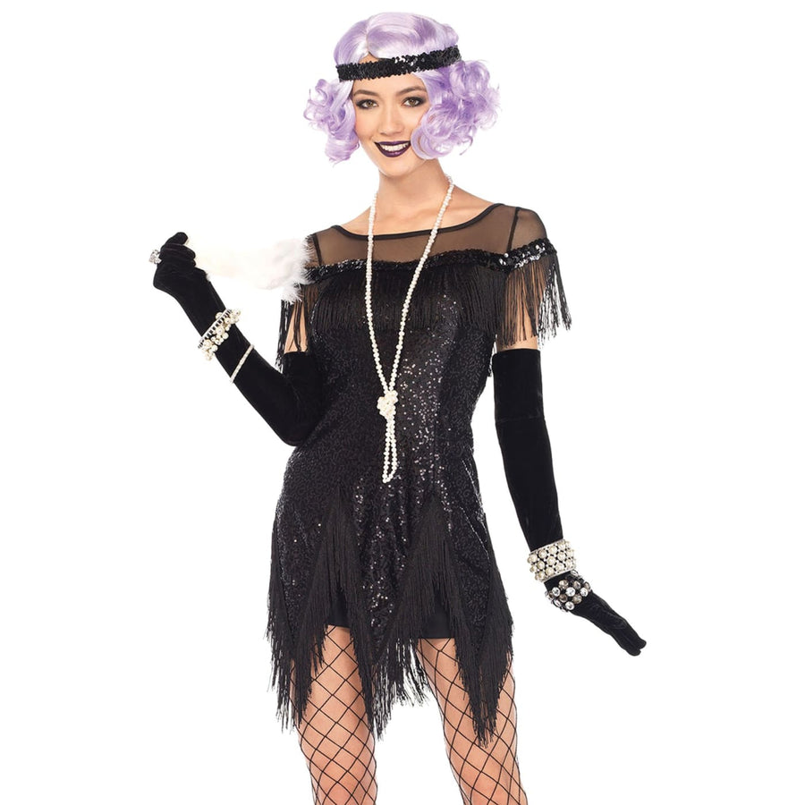Flapper Foxtrot Flirt Black Adult Costume Medium - 20s - 40s Costume adult