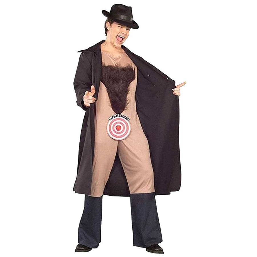 Flasher Hairy Chest Mens Costume - adult halloween costumes Funny Costume