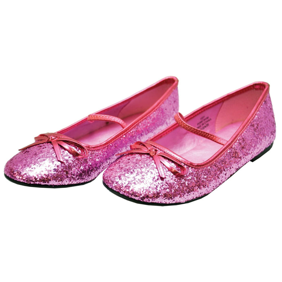 Flat Ballet Slipper Glitter Kids Pink Xl - Halloween costumes Shoes & Boots