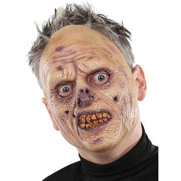 Flesh Eating Zombie Costume Mask - Costume Masks Ghoul Skeleton & Zombie Costume
