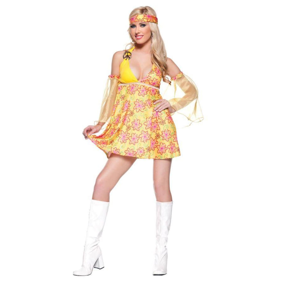 Flower Child Xlg - 60s - 70s Costume adult halloween costumes featured female