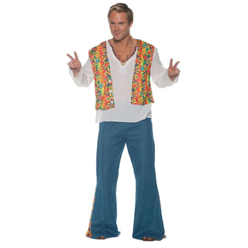 Flower Hippie Vest Mens Costume - adult halloween costumes featured halloween