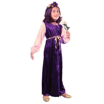 Flower Princess Velvet Child Md - Girls Costumes girls Halloween costume