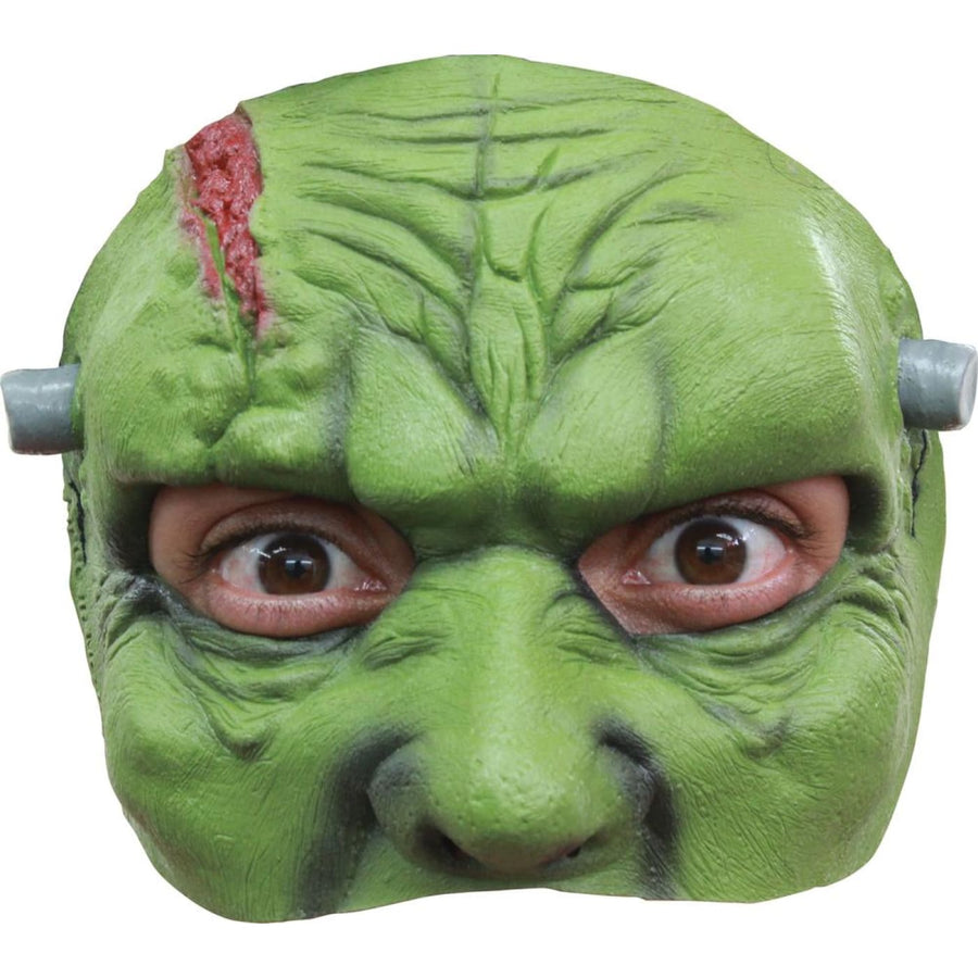 Franky Latex Half Costume Mask - Costume Masks Ghoul Skeleton & Zombie Costume