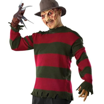 Freddy Krueger Deluxe Sweater Tee Xsmall - Halloween costumes Mens Costumes