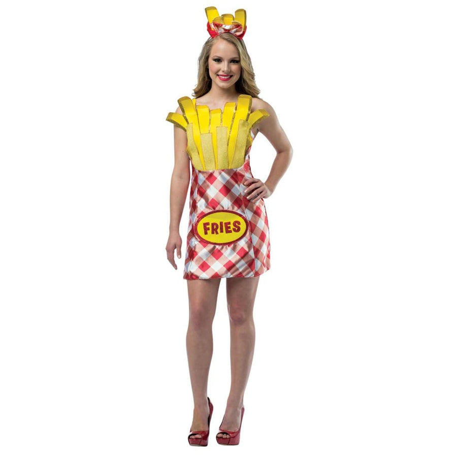 French Fry Foodie Dress Adult Costume - adult halloween costumes Halloween