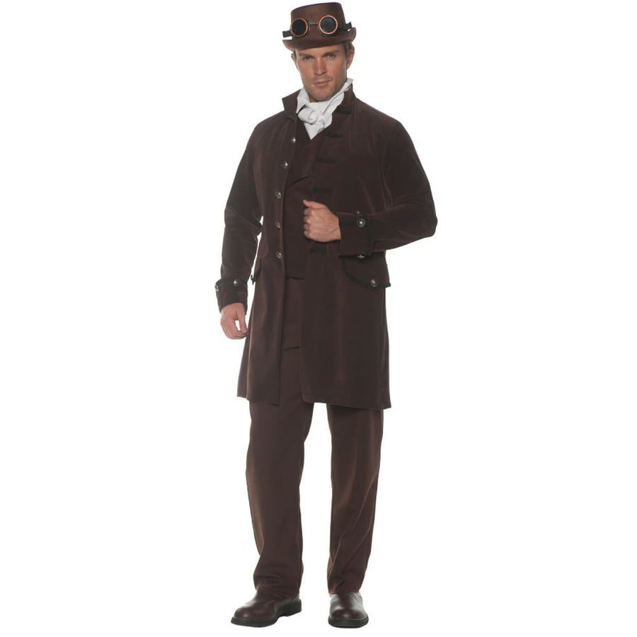 Frock Coat Mens Costume Brown Std 42-46 - Frock Coat Mens Costume Brown Std