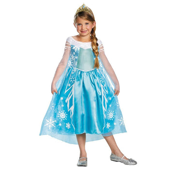 Frozen Elsa Child Deluxe Kids Costume Large 10-12 - Fairytale Costume Frozen