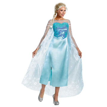 Frozen Elsa Deluxe Adult Costume Small 4-6 - adult halloween costumes female